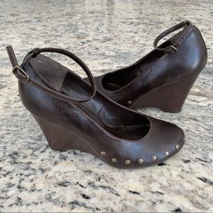Call It Spring Vegan High Heel Wedge Shoes Size 7